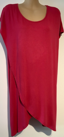 NEXT MATERNITY RASPBERRY PINK LONG WRAP TUNIC TOP SIZE 20